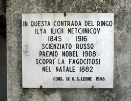 Targa commemorativa della scoperta della fagocitosi a Messina