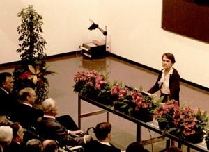 Barbara McClintock alla conferenza Nobel, 8 Dicembre 1983