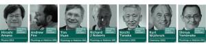 I sette premi Nobel che hanno preso parte al Nobel Prize Dialogue del 2015 a Tokyo. Credits: Nobel Media