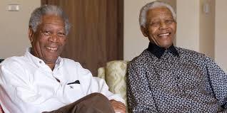 Morgan Freeman e Nelson Mandela