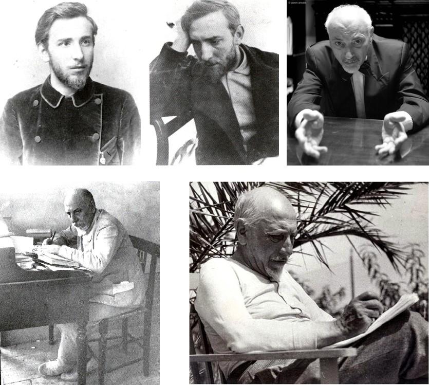 Una serie di ritratti di Luigi Pirandello
