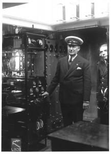 G. Marconi sull'Elettra nel 1930 (Credits: Archivio Fondazione G. Marconi)