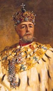 Re Oscar II di Svezia in un ritratto di Oscar Björck
