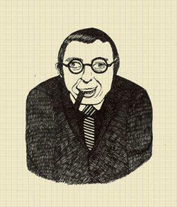 Jean-Paul Sartre (Parigi, 21 giugno 1905 – Parigi, 15 aprile 1980)